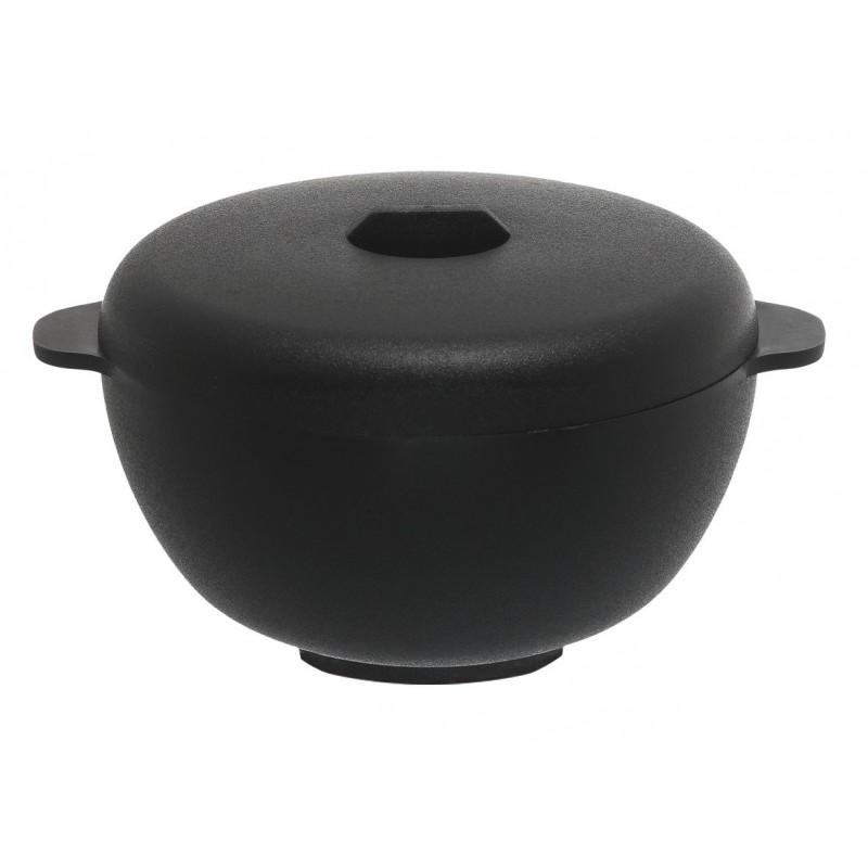 Verrine ronde de 8cl, en forme de cocotte de coloris noir