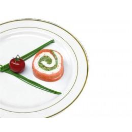Assiette ronde Arlux blanche