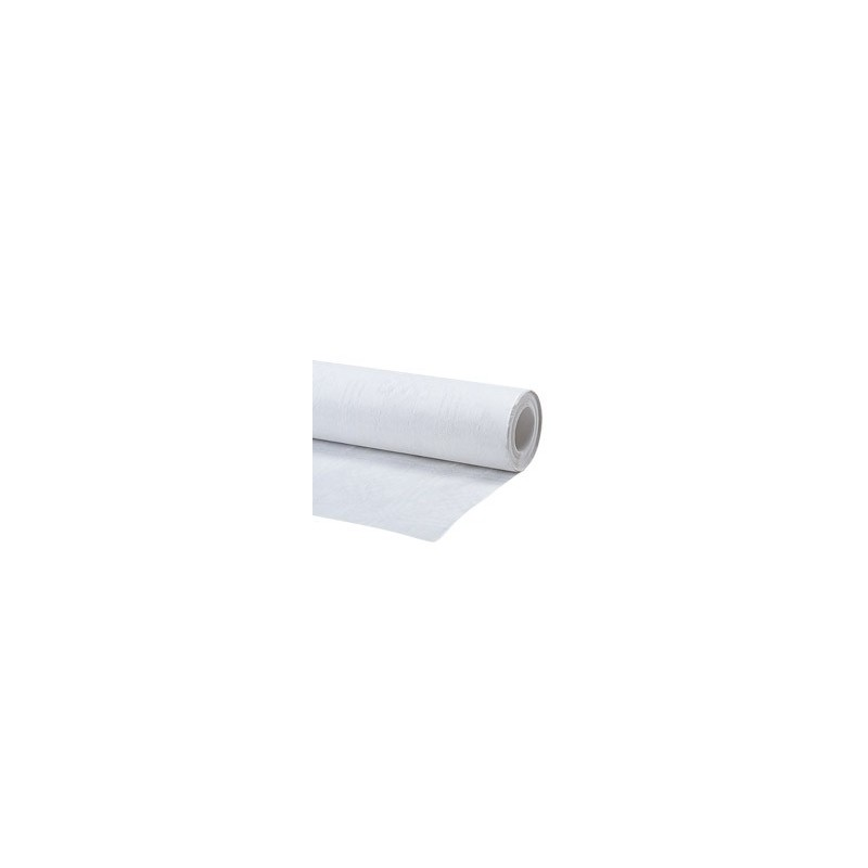 Nappe jetable blanche 25x1,20m