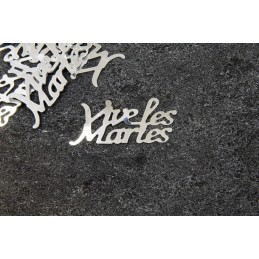 """Confettis de table """"vive les mariés"""" argent"""