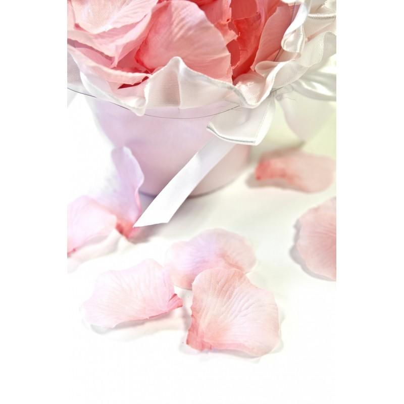 100 pétales de fleurs en tissu