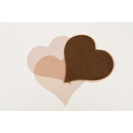 Confettis coeur en organza chocolat