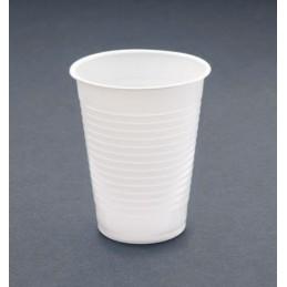 Gobelet plastique blanc de 20cl par 100