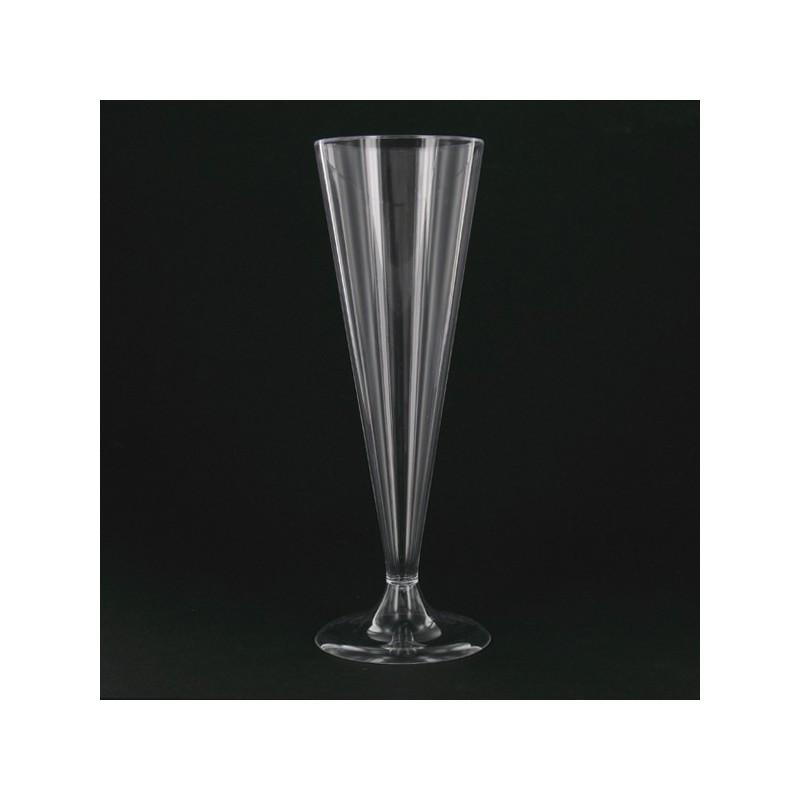 Flute à champagne jetable bi-bloc par 8