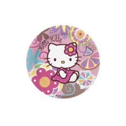 Assiette jetable Hello Kitty  23cm par 10