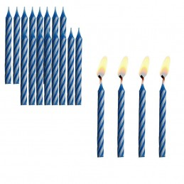 Bougie anniversaire bleu par 12