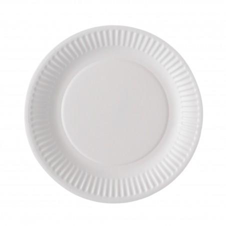 Assiette ronde carton blanc de 18cm par 100