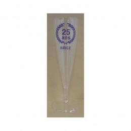 Flûte à champagne plastique 12cl personnalisable