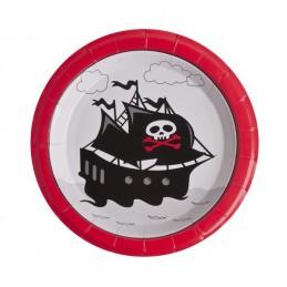 Assiette carton Pirate 23cm par 10