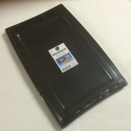 Plateau en plastique noir 45x35cm par 5