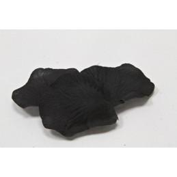 100 pétales de fleurs en tissu noir