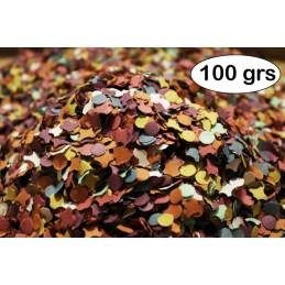 Sachet de confettis multicolores 100 grammes