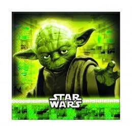 "Serviette papier Star Wars ""Yoda"" par 20"
