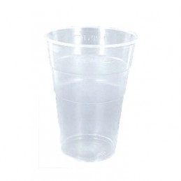 Gobelet à bière en plastique transparent de 35cl