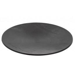 Assiette ronde de 22cm immitation ardoise