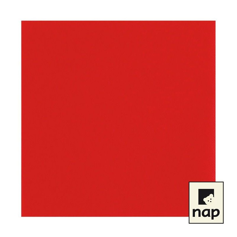Serviette jetable celisoft 40x40cm rouge