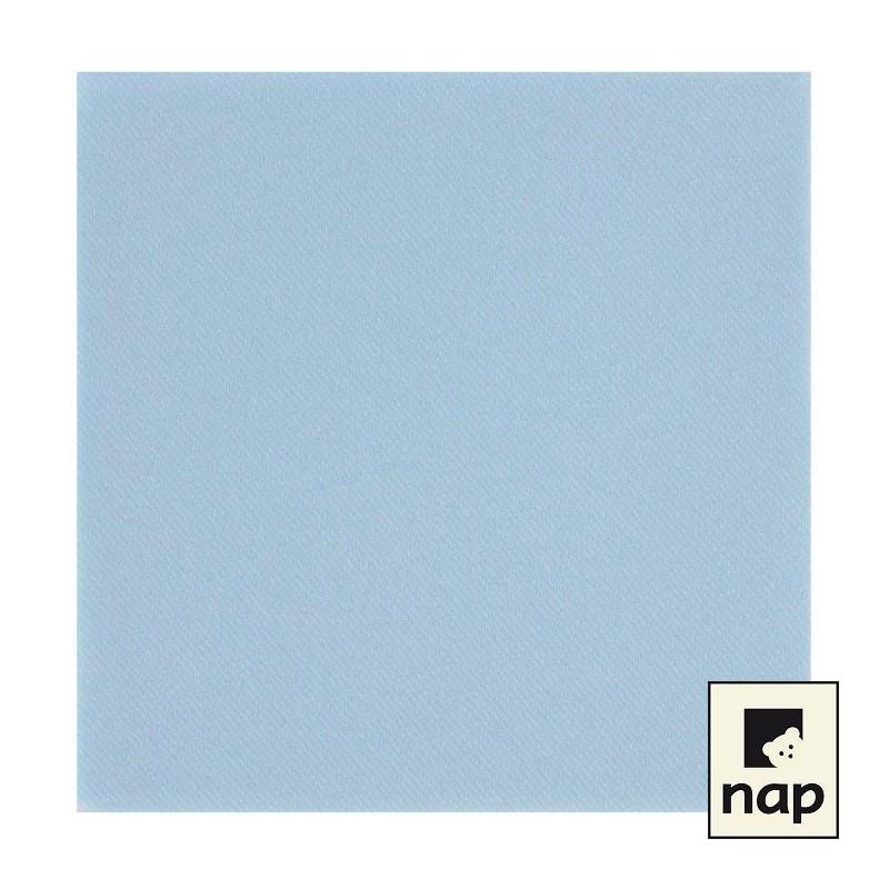 Serviette jetable celisoft 40x40cm bleu azur
