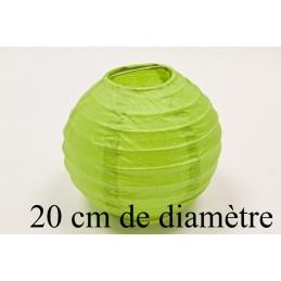 Lanterne décoration en papier 20cm vert anis