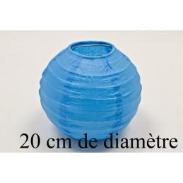 Lanterne décoration en papier 20cm turquoise