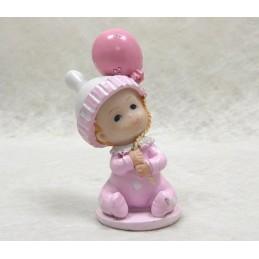 """Sujet baptème bébé avec ballon """"Penelope"""""""