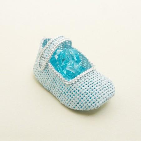 Contenant dragée en chausson de bébé
