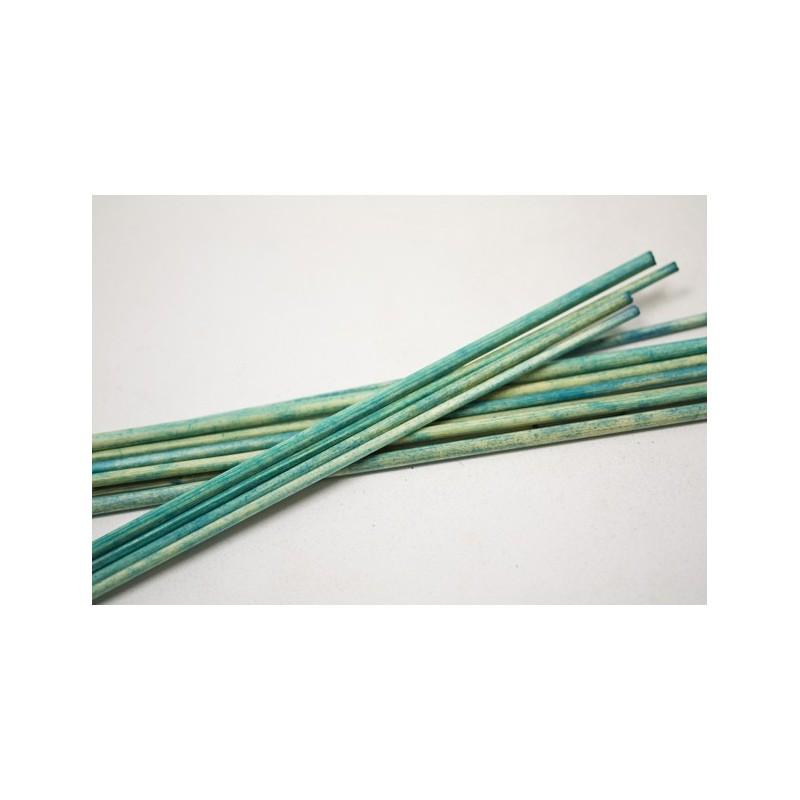 Batonnet fantaisie en bois turquoise