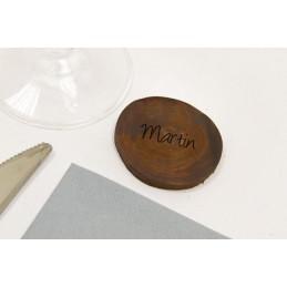 Disque en bois de décoration chocolat