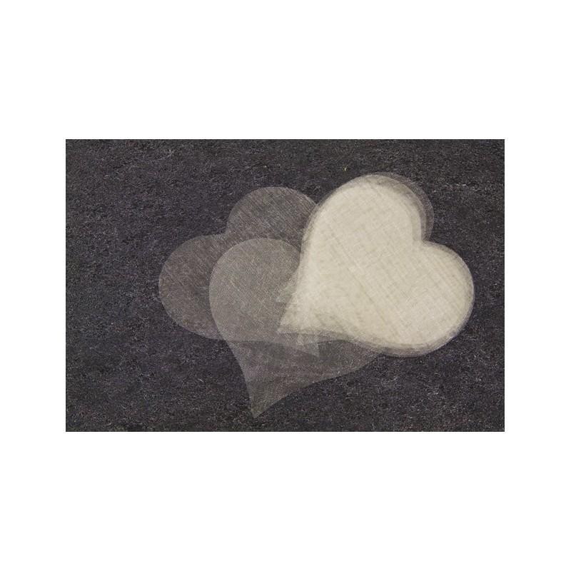 Coeur en organza ivoire