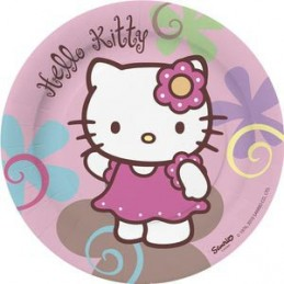 Assiette jetable Hello Kitty  18cm par 10