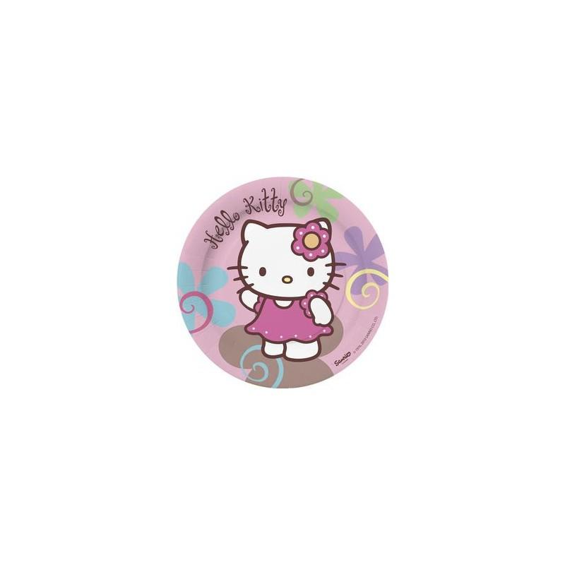 Assiette jetable Hello Kitty  18cm par 10