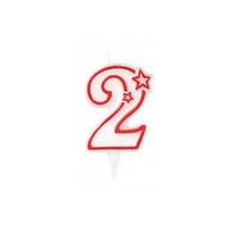 """Bougie anniversaire chiffre """"2"""""""