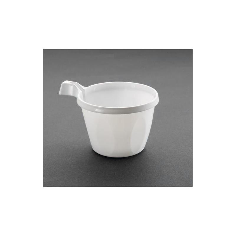 Tasse à café en plastique blanche par 50