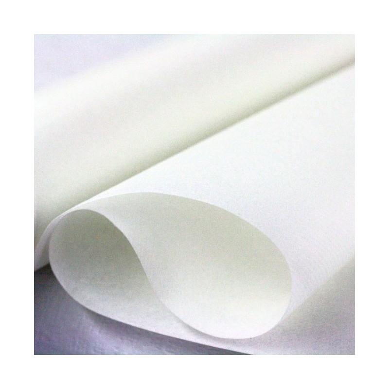 Nappe papier intissé blanc de 5x1,18m