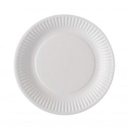Assiette en carton blanc de 28cm par 20
