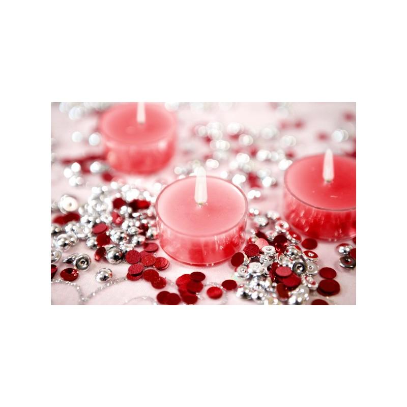 Bougie chauffe plat Rouge par 6