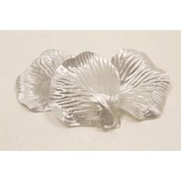 50 pétales de fleurs en tissu Argent