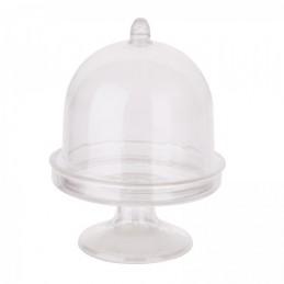 Contenant à dragées Mini Cloche en plastique par 3