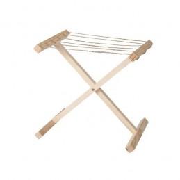 Présentoir en bois en forme d'étendoir