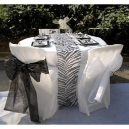 Housse de chaise blanche intissé par 5