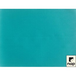 Set de table papier turquoise par 10