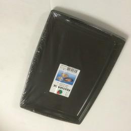 Plateau plastique noir 35x25cm avec poignée par 5