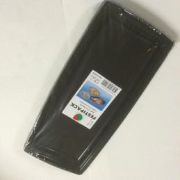 Plateau plastique noir 36cm avec poignées par 5
