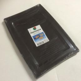 Plateau jetable noir 36x25cm par 5
