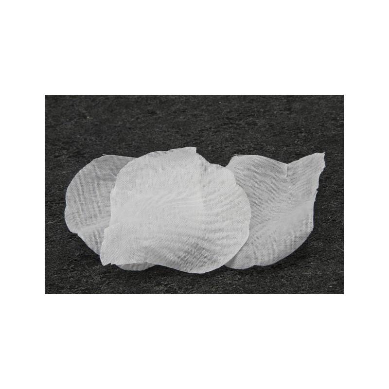 100 pétales de fleurs en tissu blanc