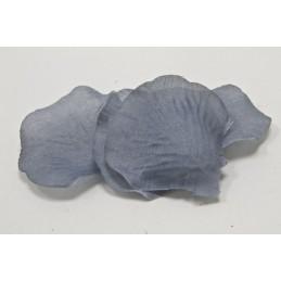 100 pétales de fleurs en tissu gris