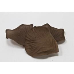 100 pétales de fleurs en tissu marron