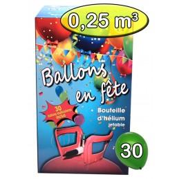 Bouteille Helium 0,25m3 avec 30 ballons