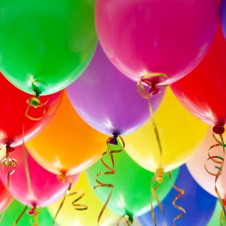 Ballons décoratifs 23cm multicolores par 25