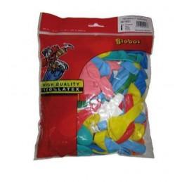 Ballons décoratifs 23cm multicolores par 50