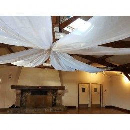 Rouleau tenture blanc non tissé 0,80x12m décoration de salle